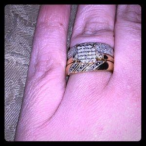 3 Piece Diamond GP 925 Ring Set